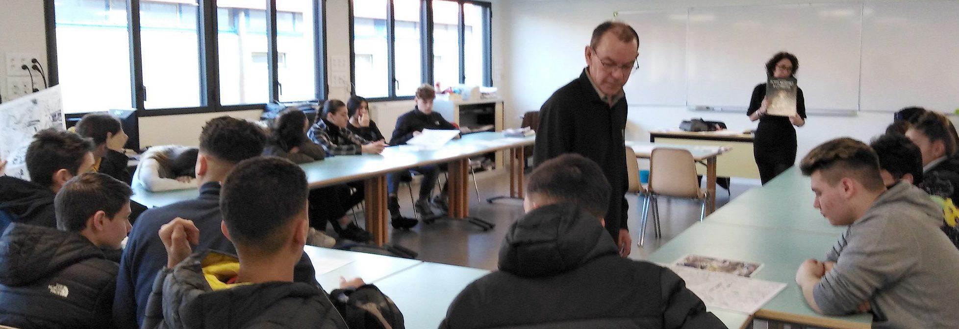 Les élèves ont été conseillés par le dessinateur Denis Chetville.